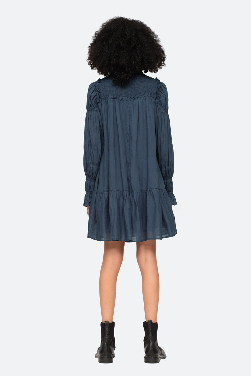 Marine-Hattie L/S Dress-Back View 5