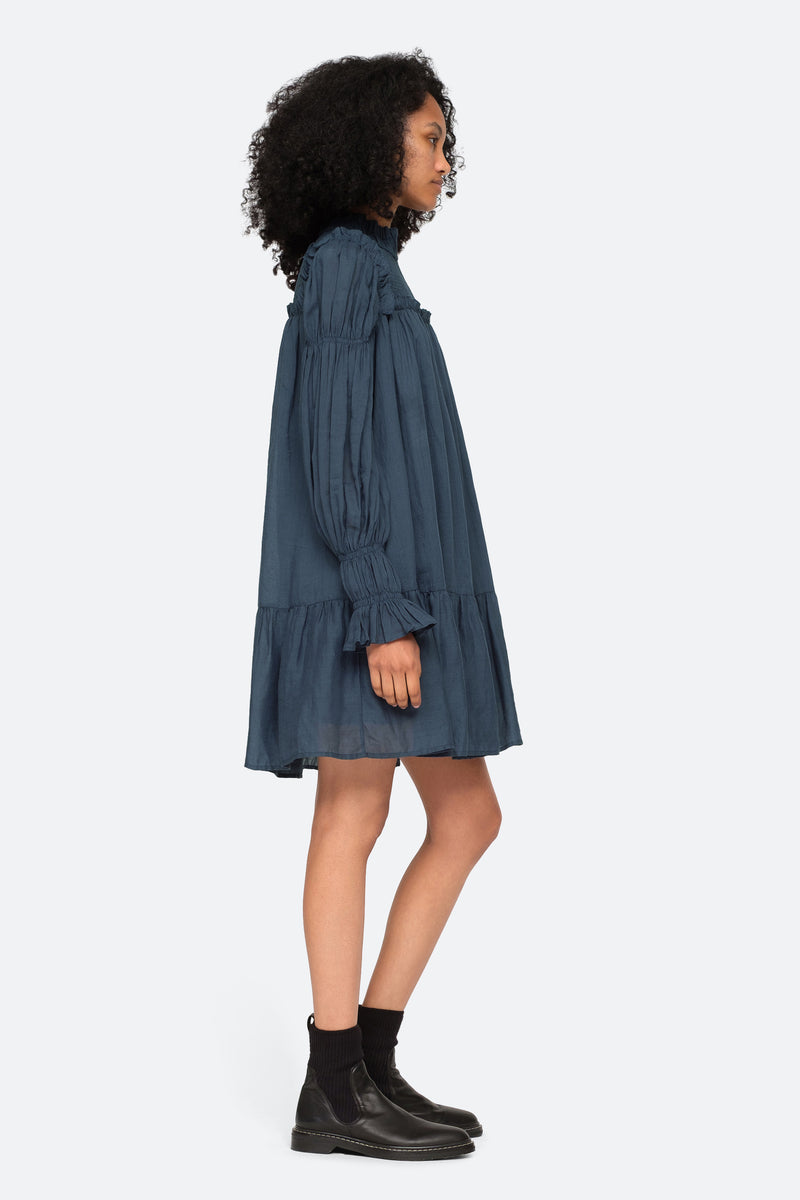 Marine-Hattie L/S Dress-Side View 6