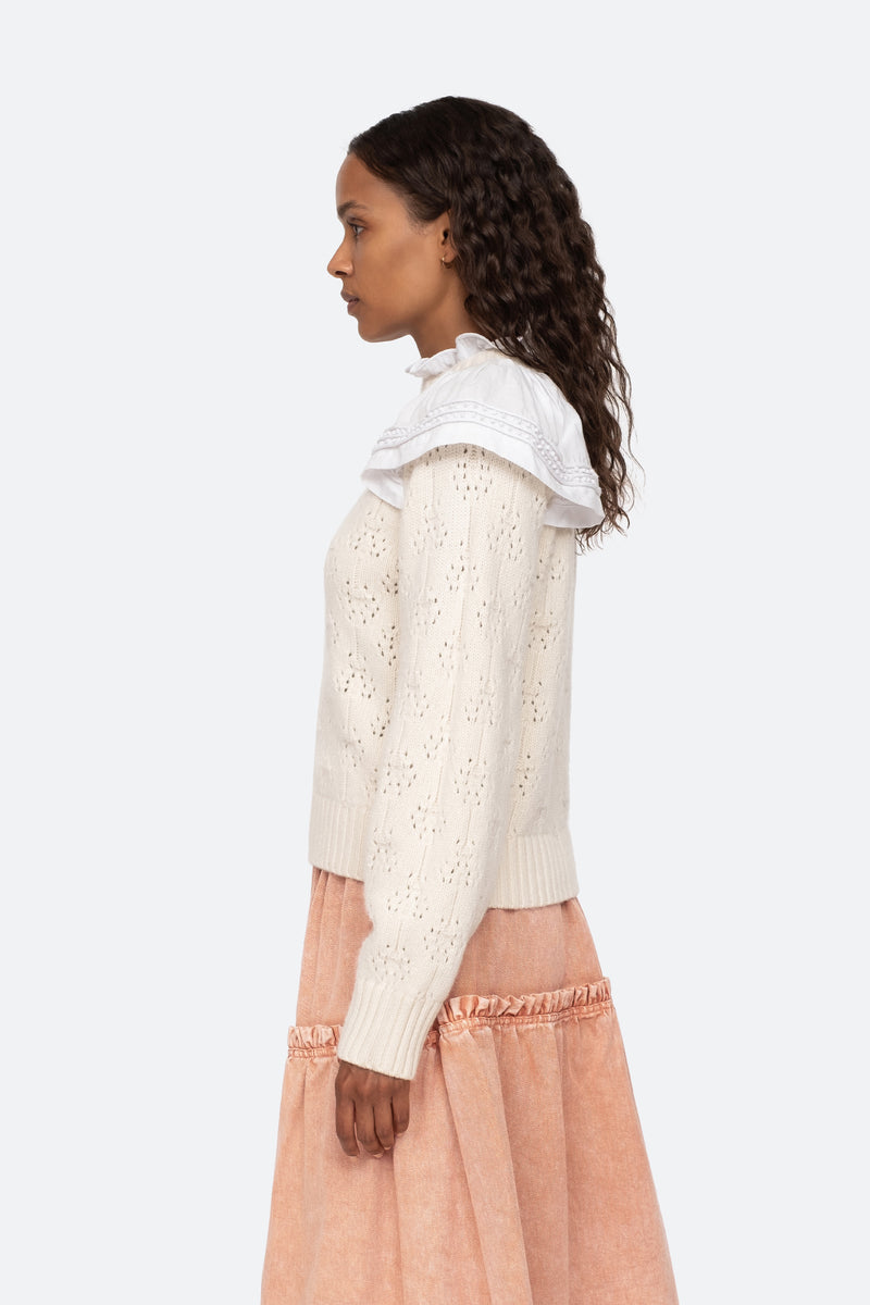 Ivory-Novia Sweater-Side View 3