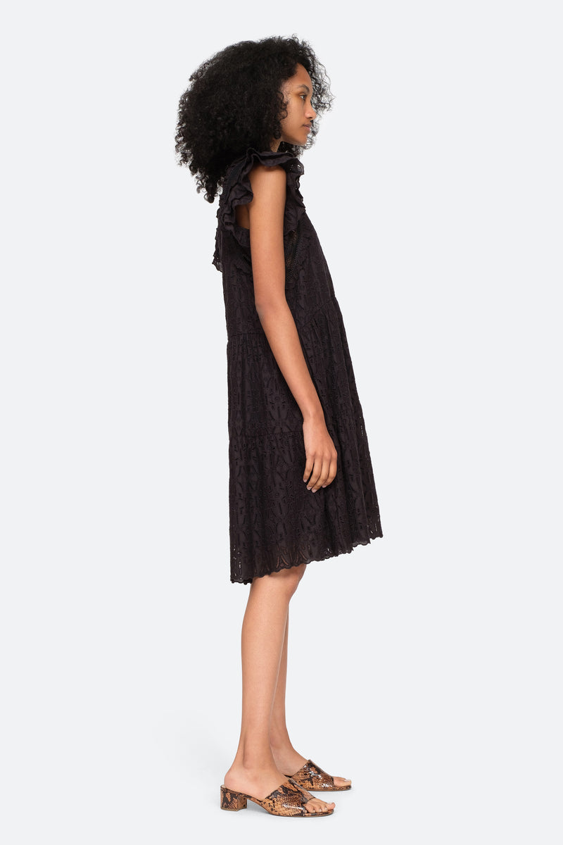 Black-Ingrid Dress-Side View 3
