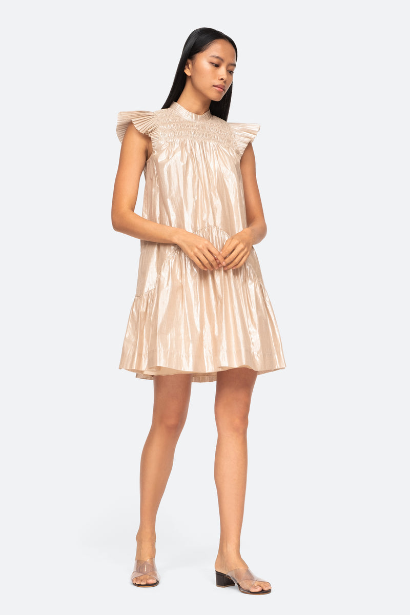 Champagne-Lumier Dress-Front View 1