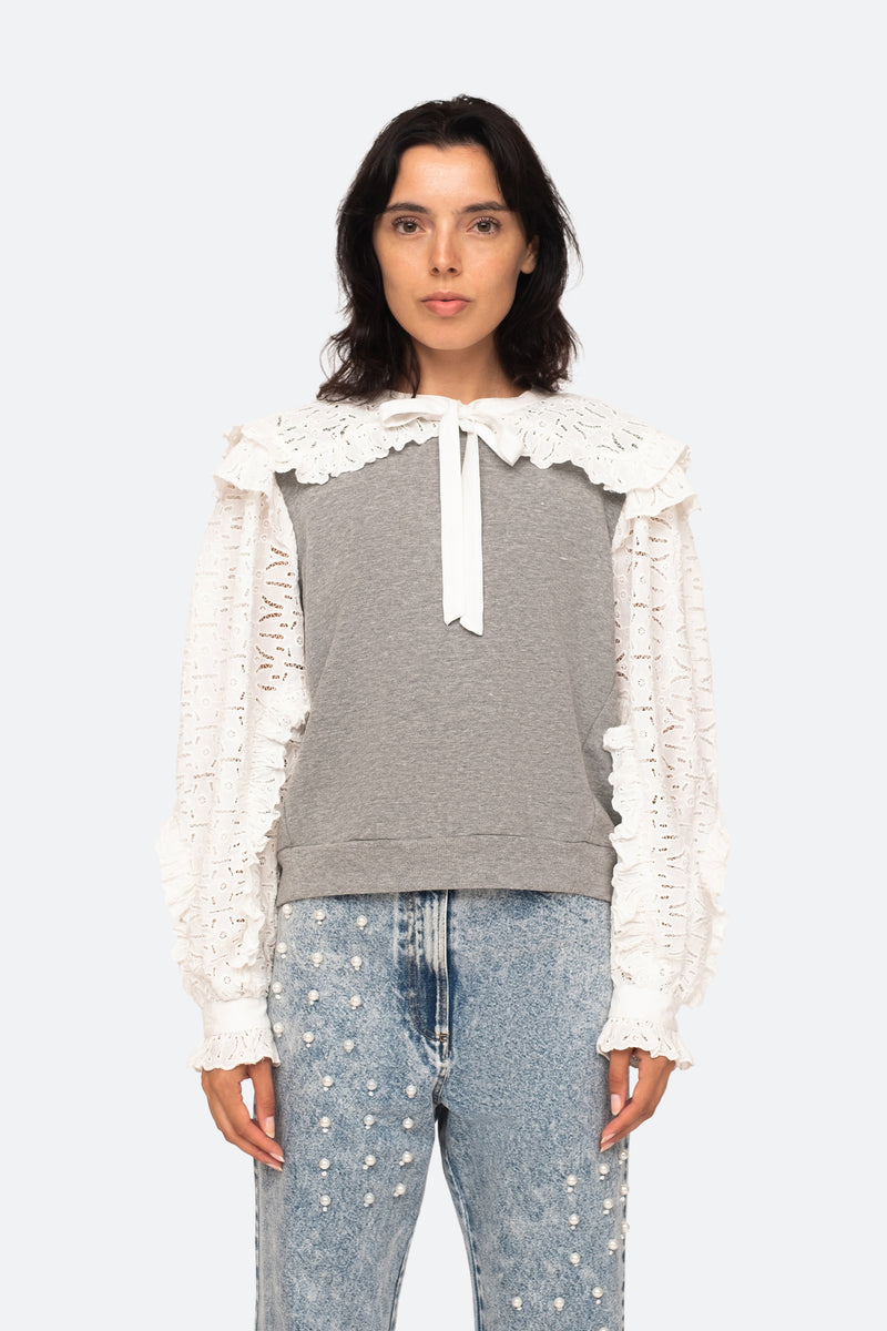Grey-Ingrid Sweatshirt-Front View 1