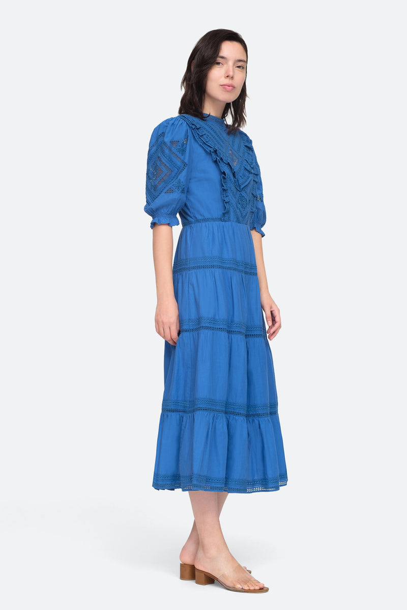 Blue - Talitha Maxi Dress Side View 3