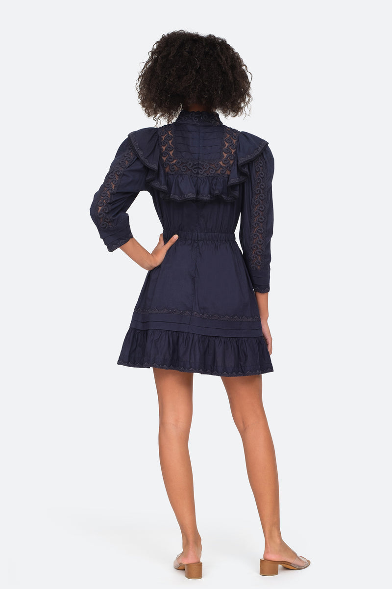 Navy - Victoria Dress Back View 6