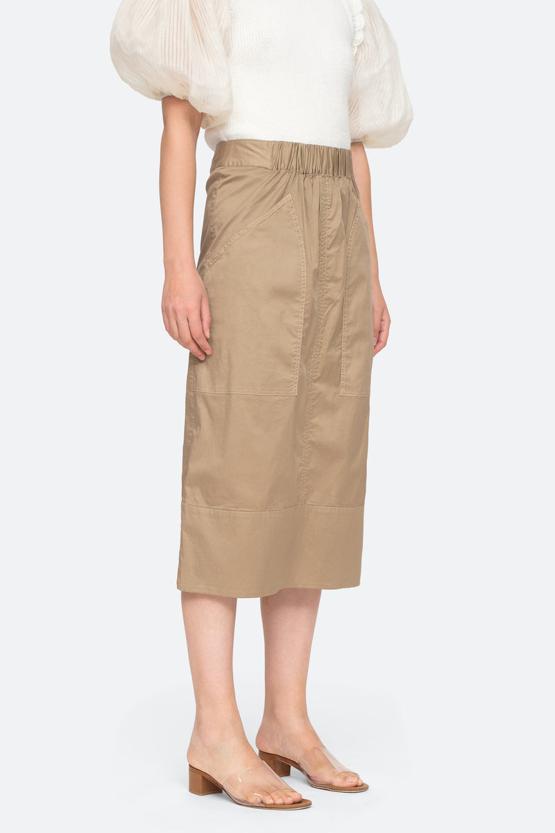 Khaki - Giselle Skirt Side View 3