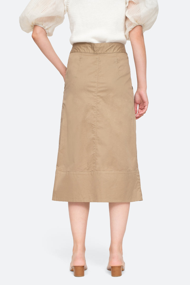Khaki - Giselle Skirt Back View 4
