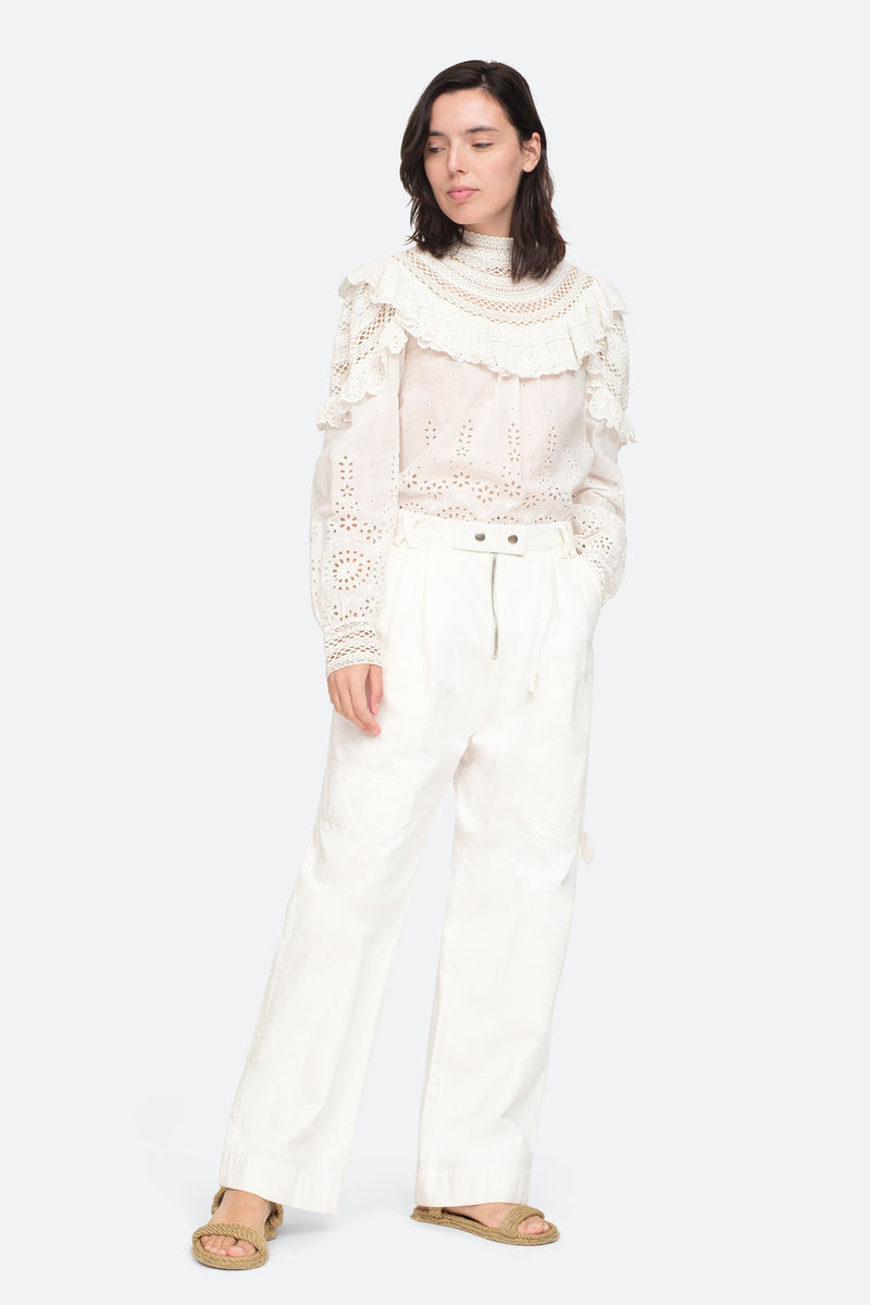 White - Daisy L/S Top Full Body View 4