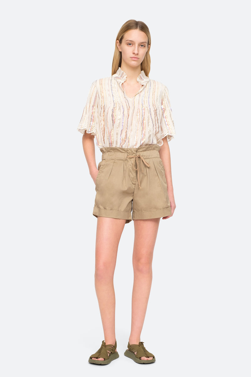 Khaki - Giselle Shorts Full Body View 2