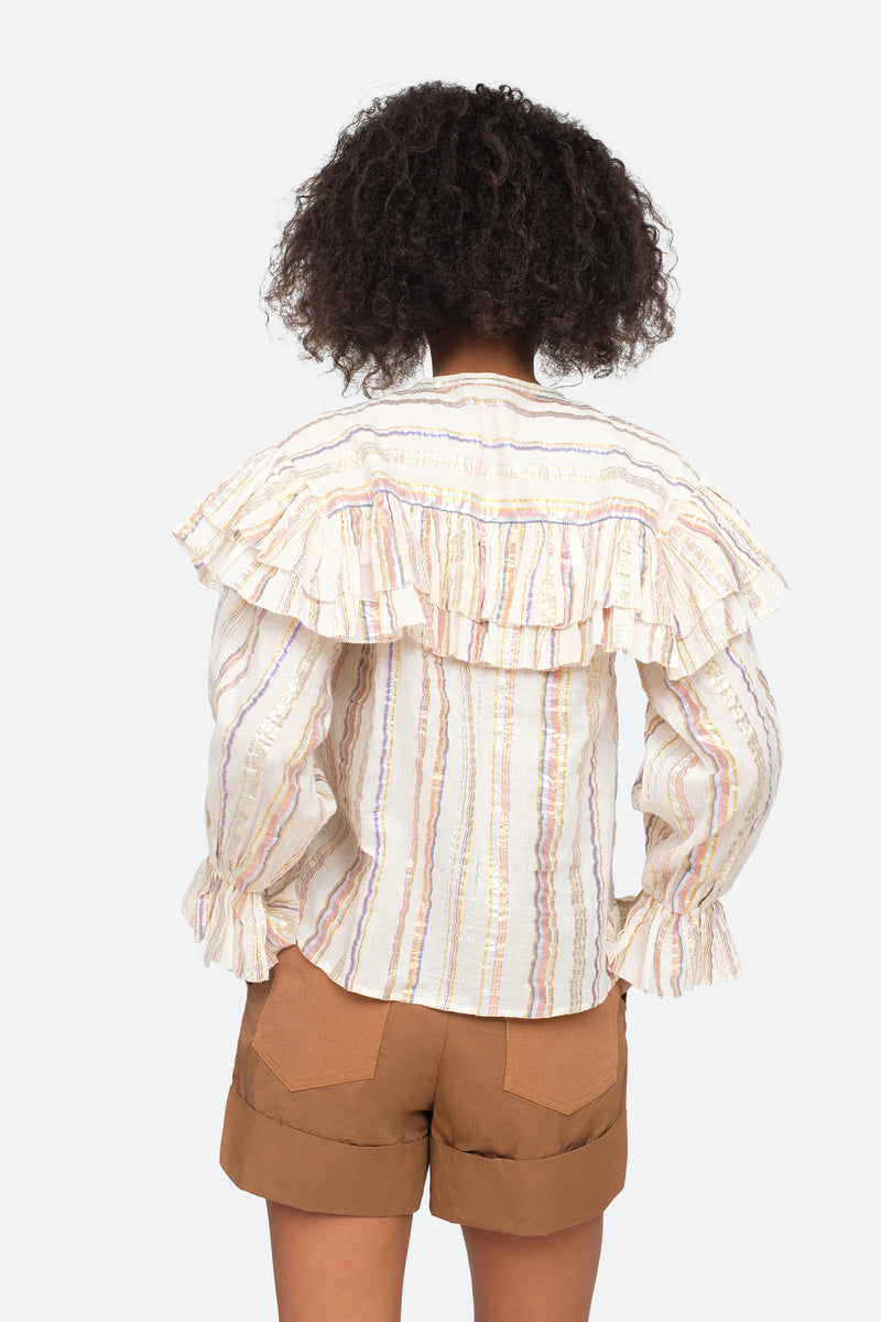 Multi - Harriet Blouse Back View 2