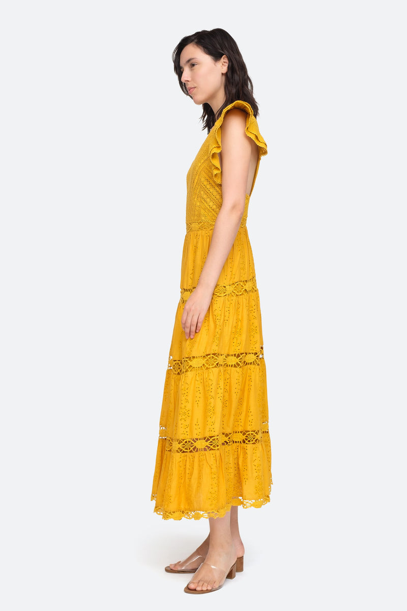 Turmeric - Lea Dress Side View 3