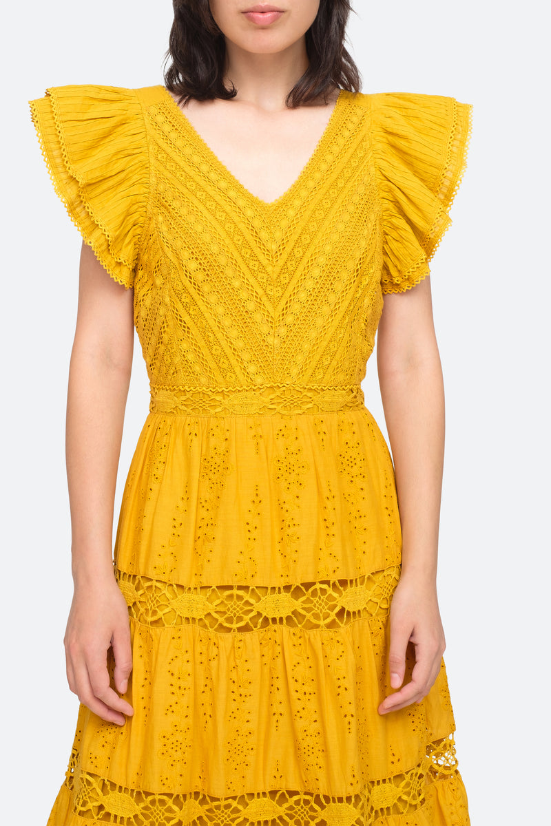Turmeric - Lea Dress Close View 4