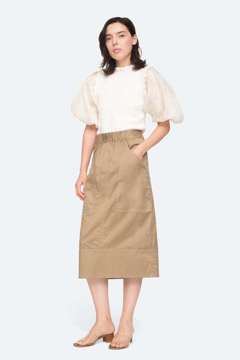 Khaki - Giselle Skirt Full Body View 2