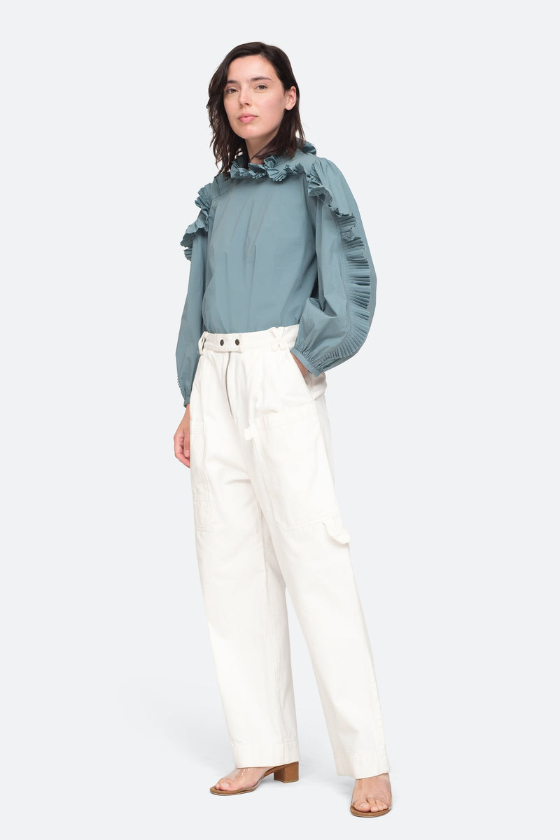White - Mara Pants Full Body View 6
