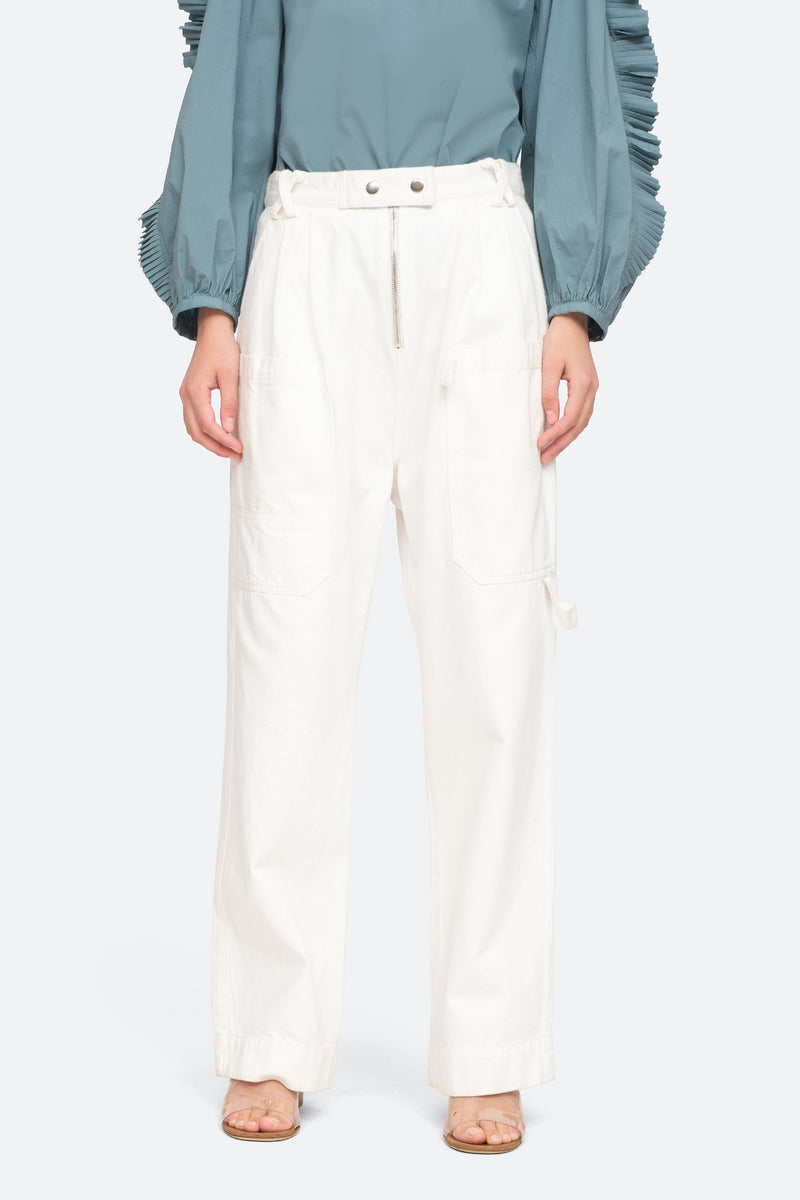 White - Mara Pants Front View 5