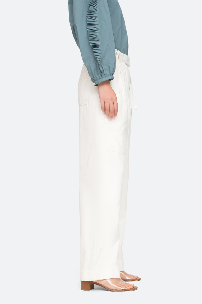 White - Mara Pants Side View 7