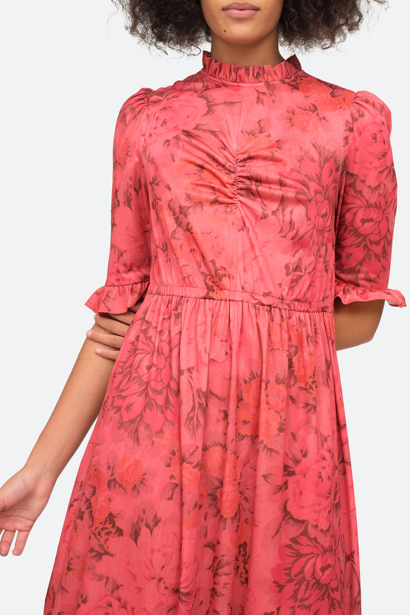 Rosewood - Mimi Floral Dress Close View 4