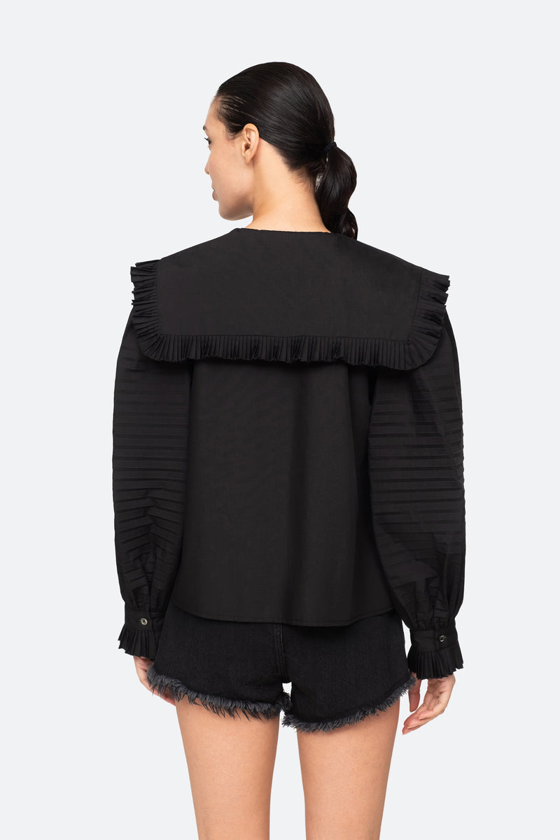 Black-Charlie Blouse-Back View 2