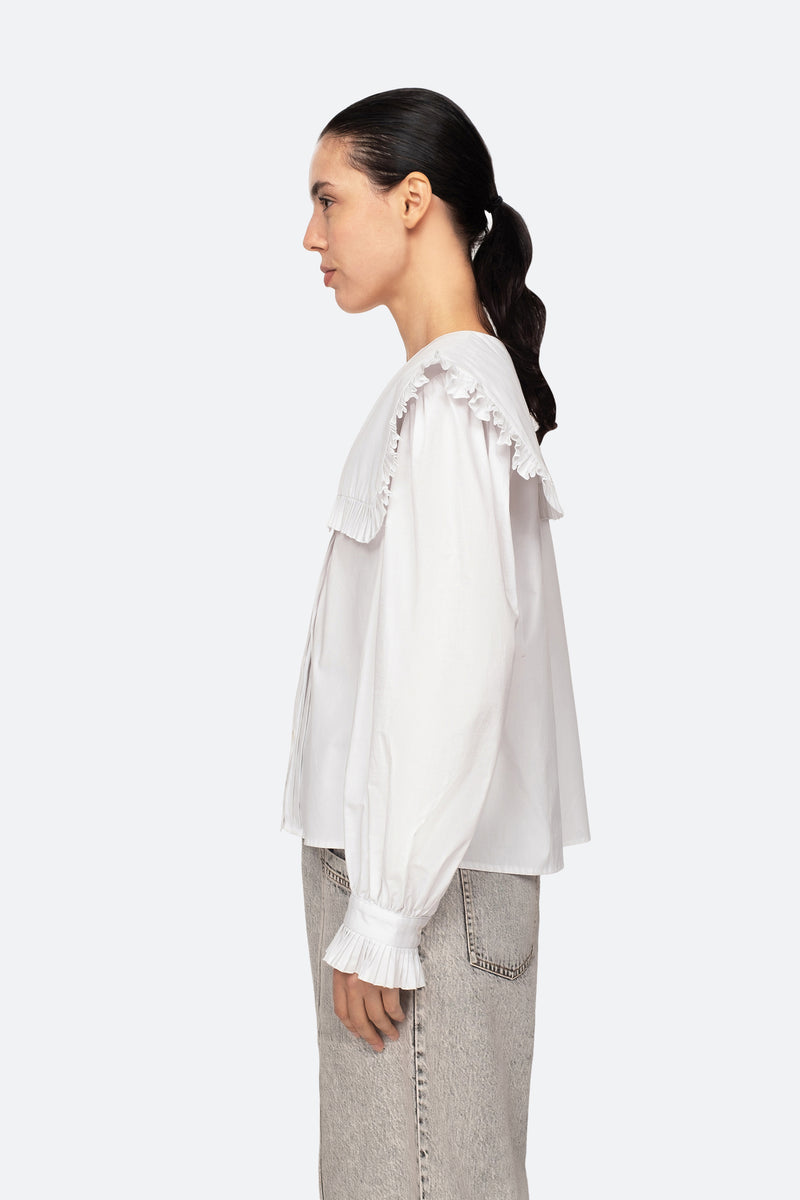 White-Charlie Blouse-Side View 8