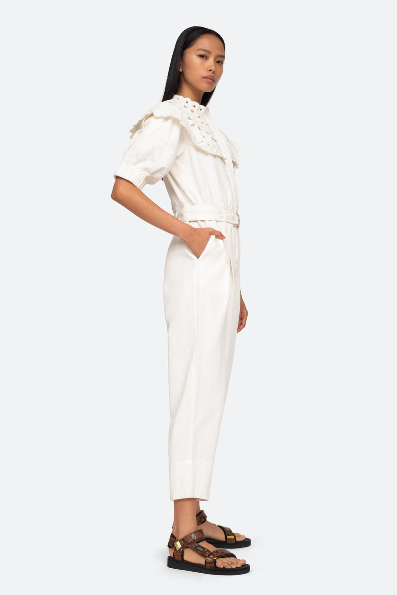 White-Hazel Jumpsuit-Side View 3