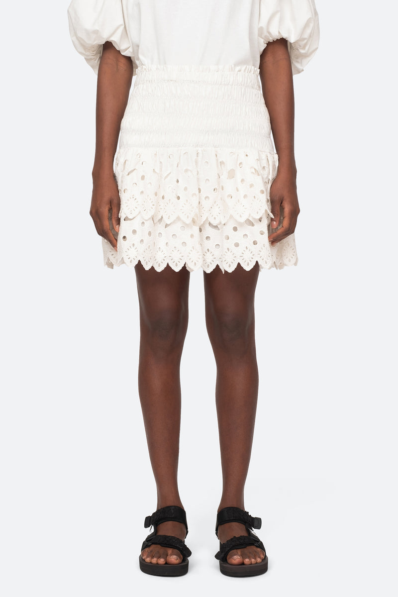 White-Hazel Skirt-Front View 1