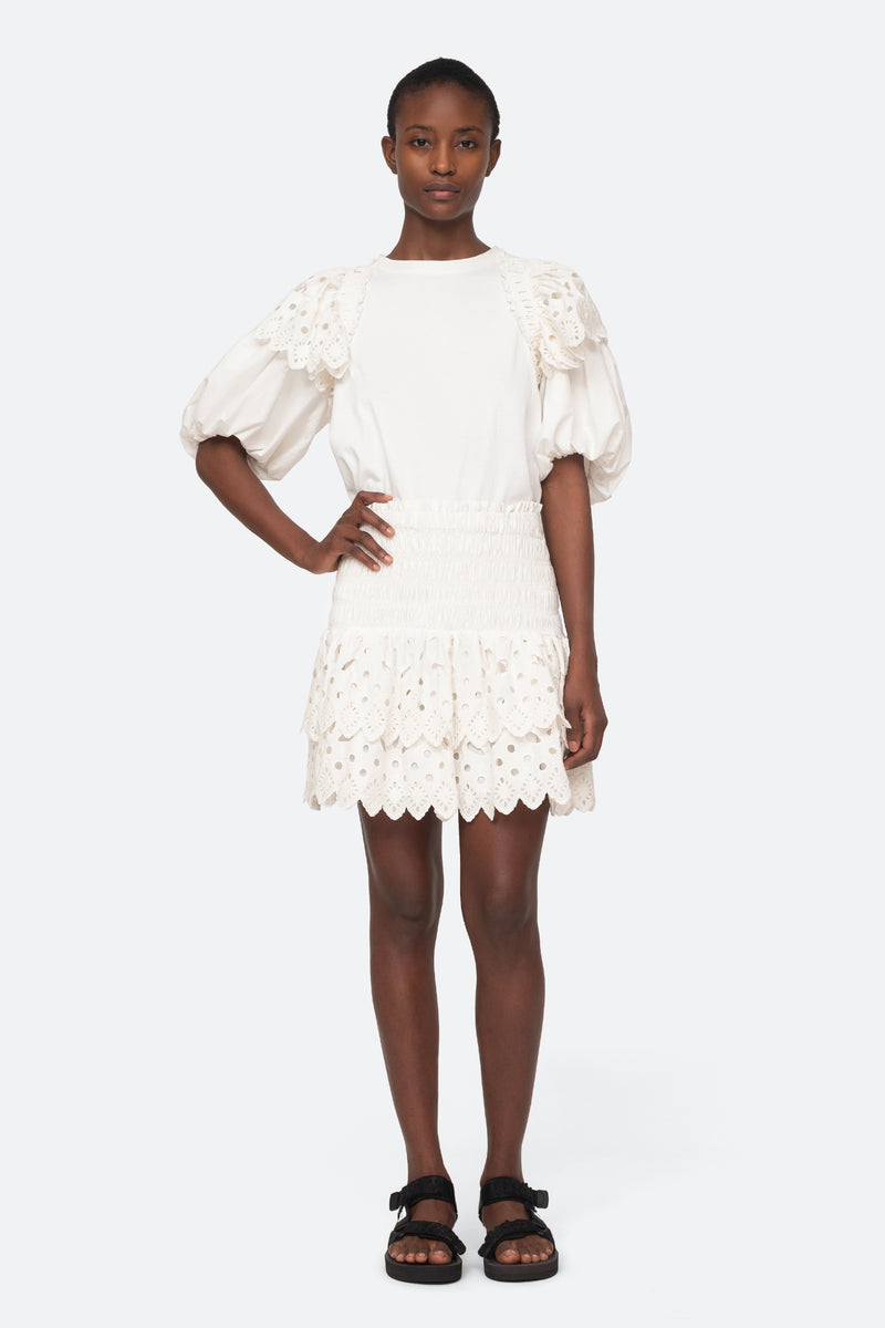 White-Hazel Skirt-Full Body View 2
