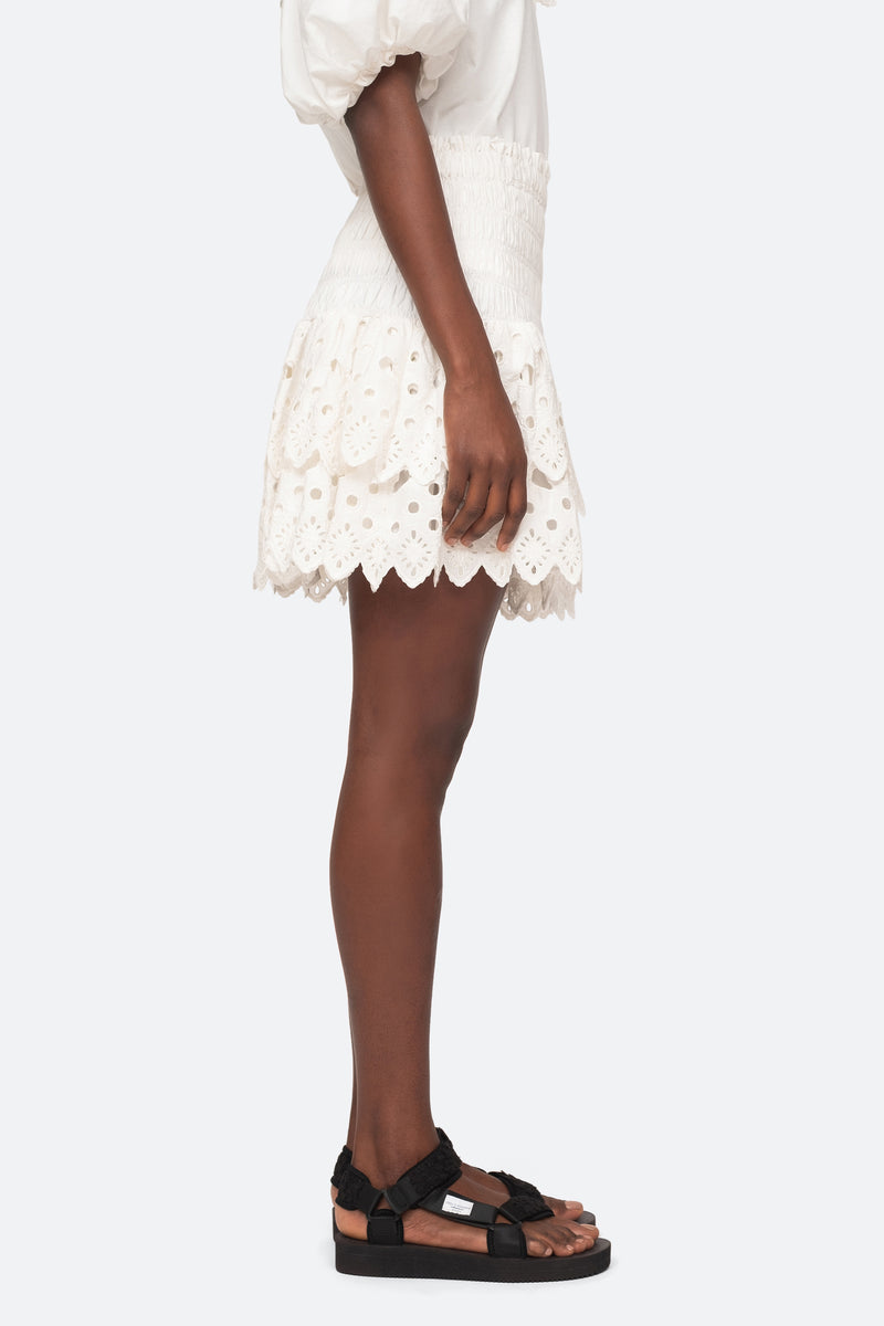 White-Hazel Skirt-Side View 4