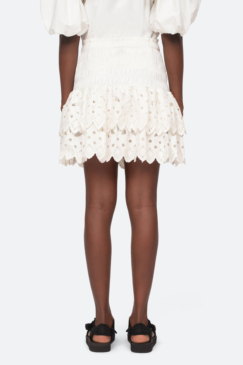 White-Hazel Skirt-Back View 3
