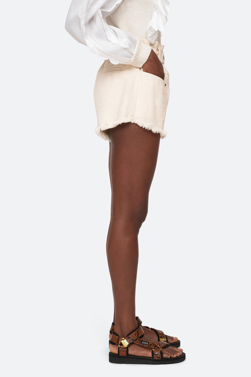 Cream-Phillipa Shorts-Side View 4