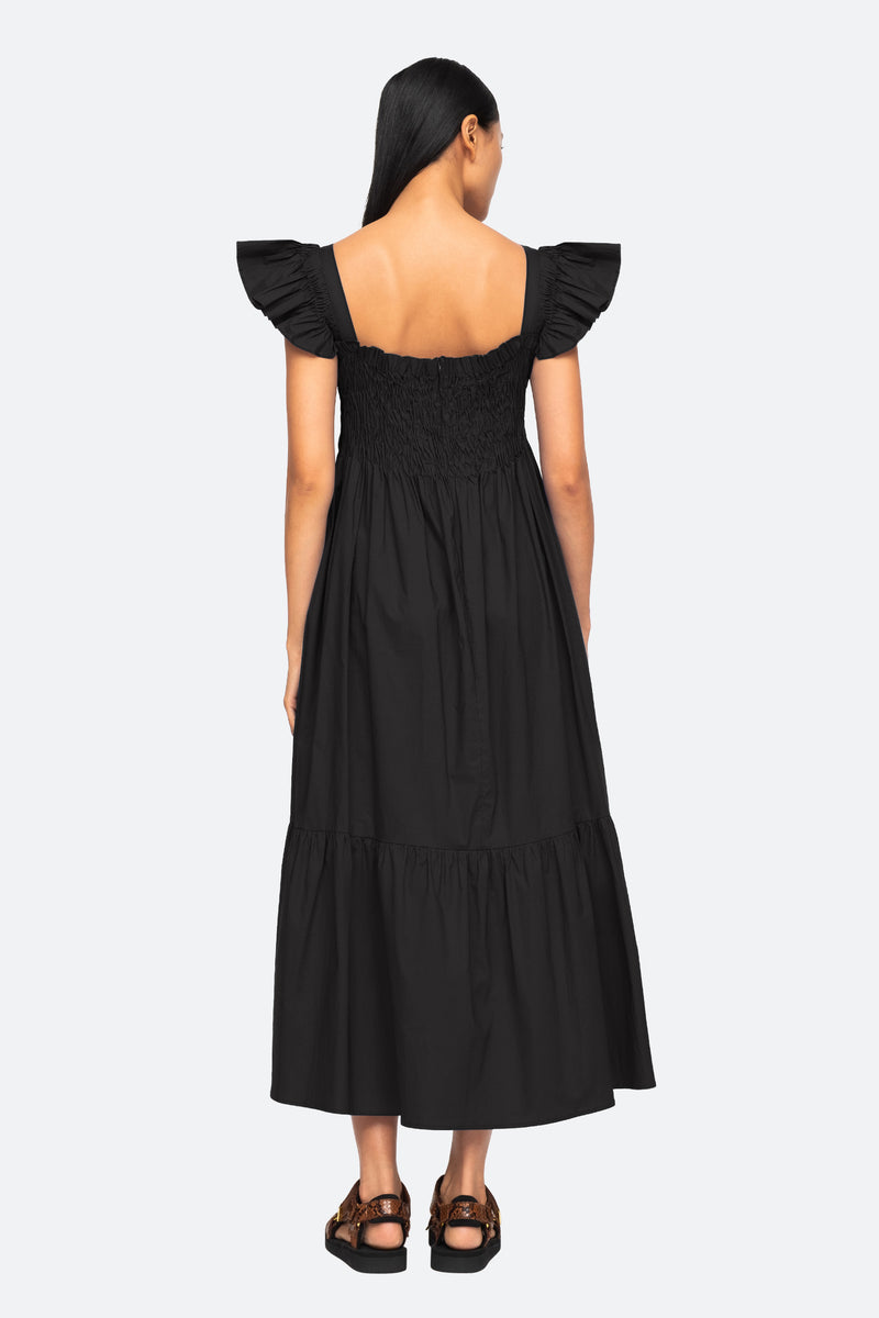 Black-Varsha Dress-Back View 3