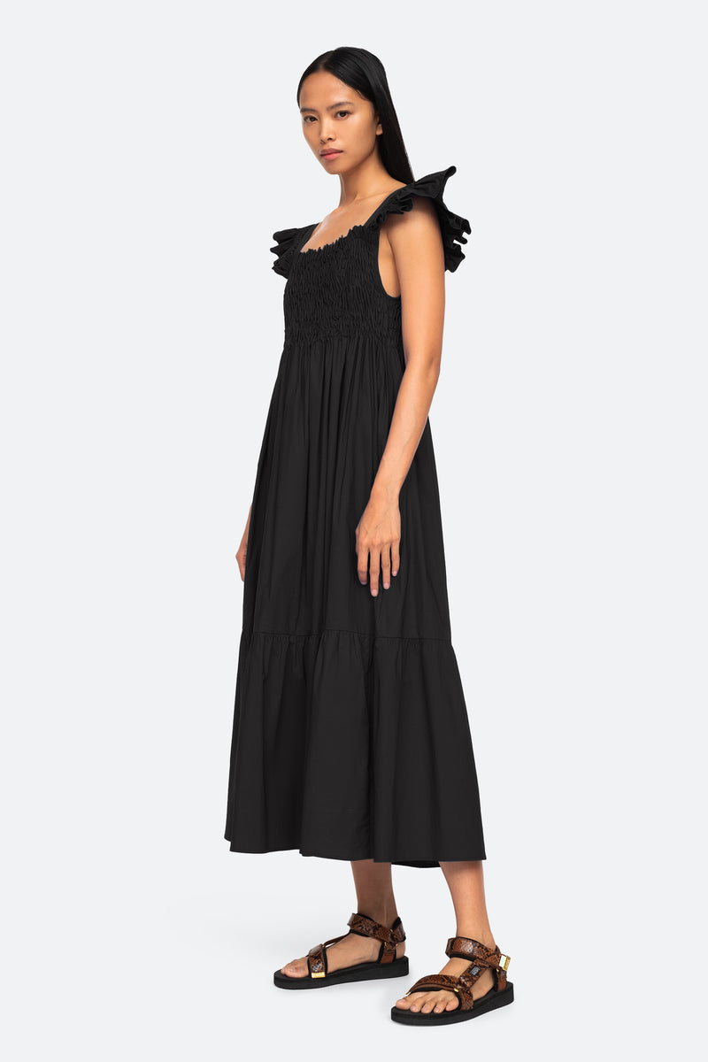 Black-Varsha Dress-Side View 3