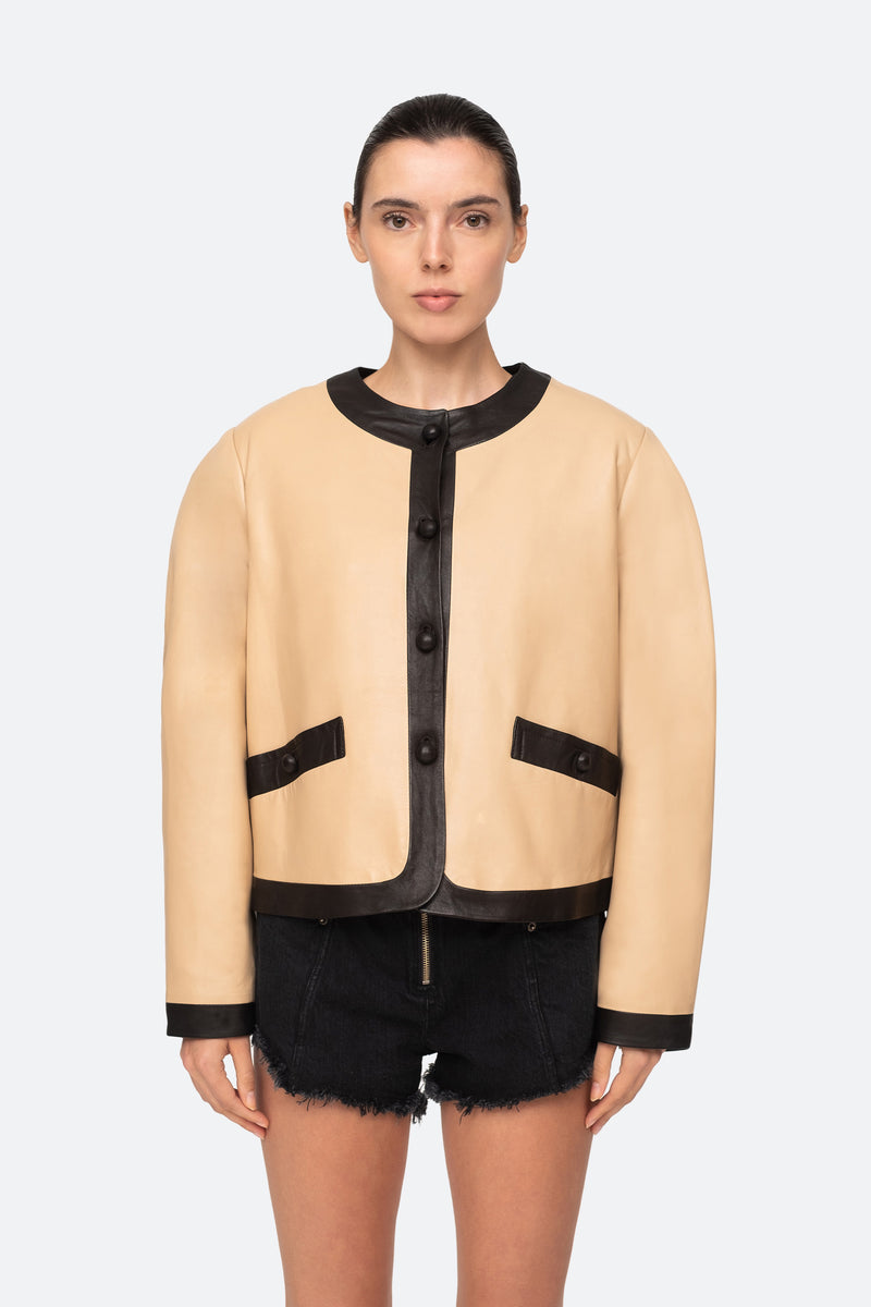 Camel-Veronica Jacket-Front View 4