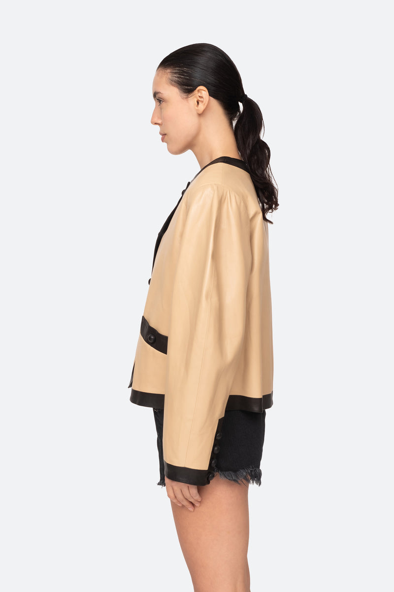 Camel-Veronica Jacket-Side View 3