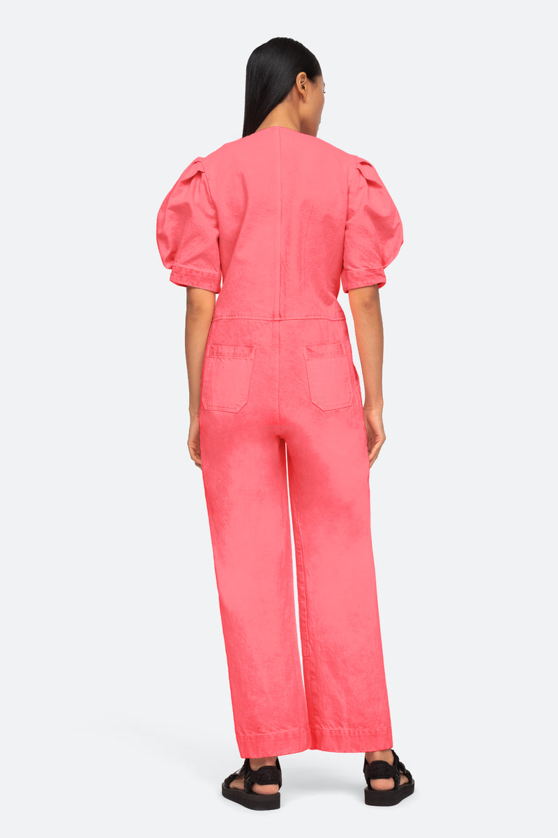 Pink-Neon Jumpsuit-Back View 3
