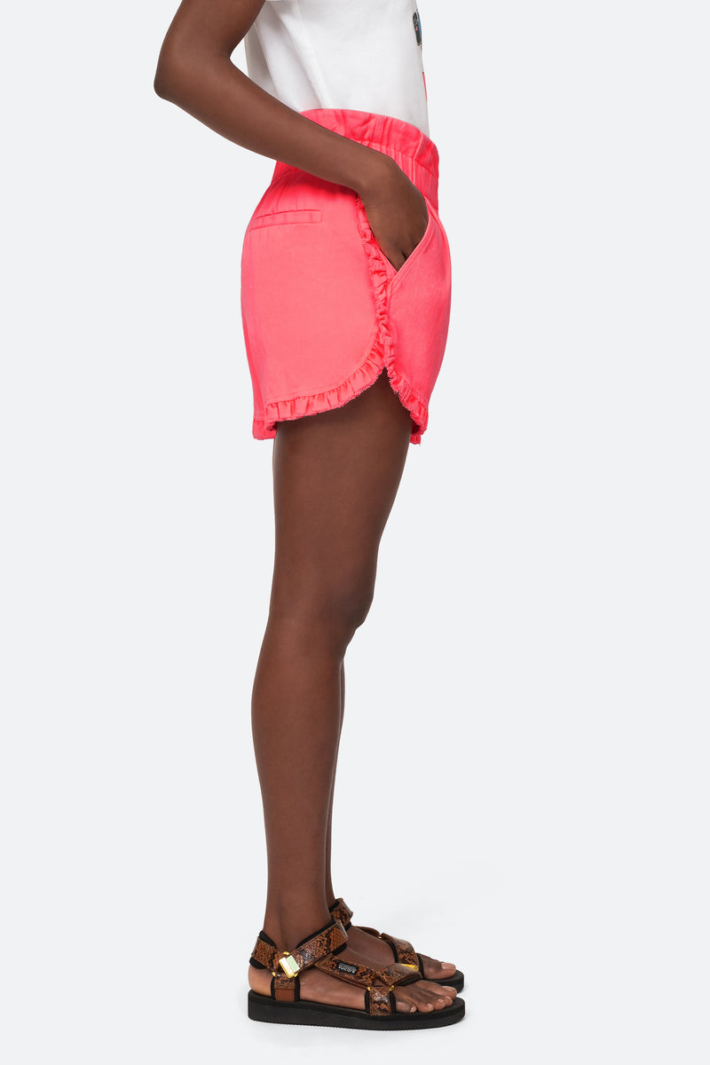 Pink-Ruffle Shorts-Side View 7