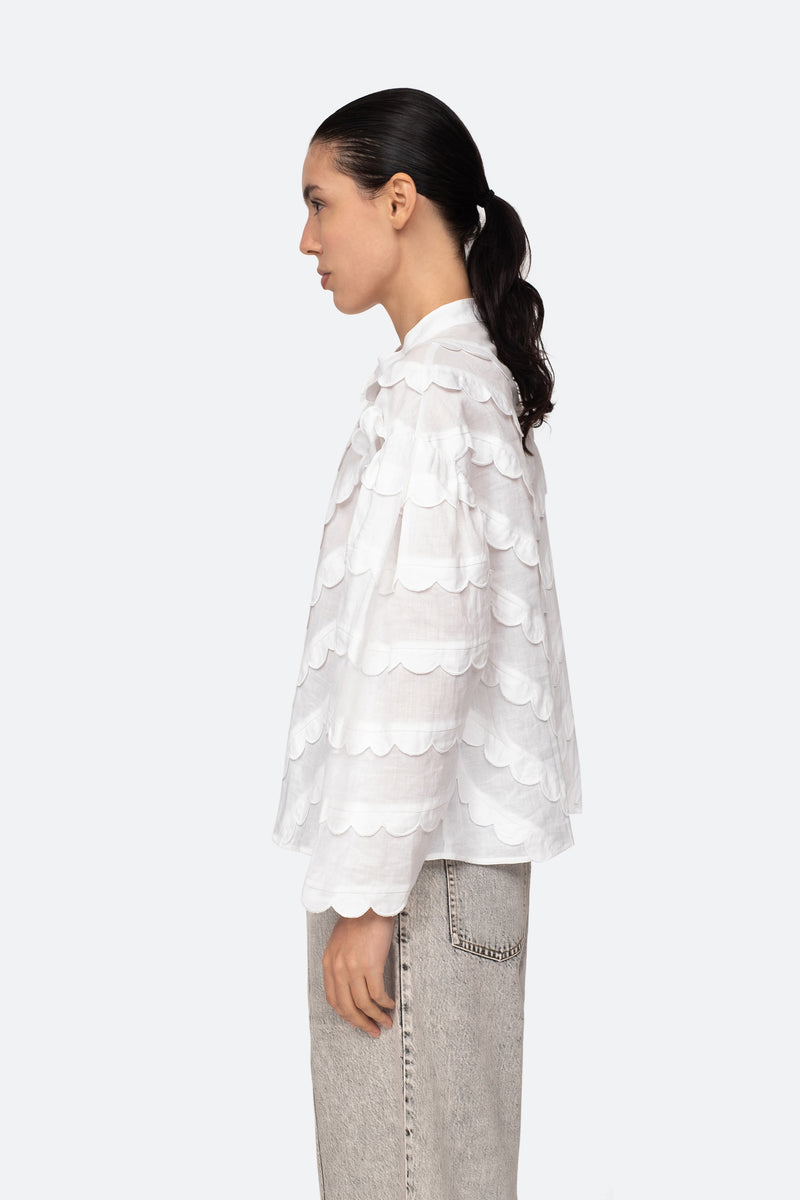 White-Shannon Blouse-Side View 3