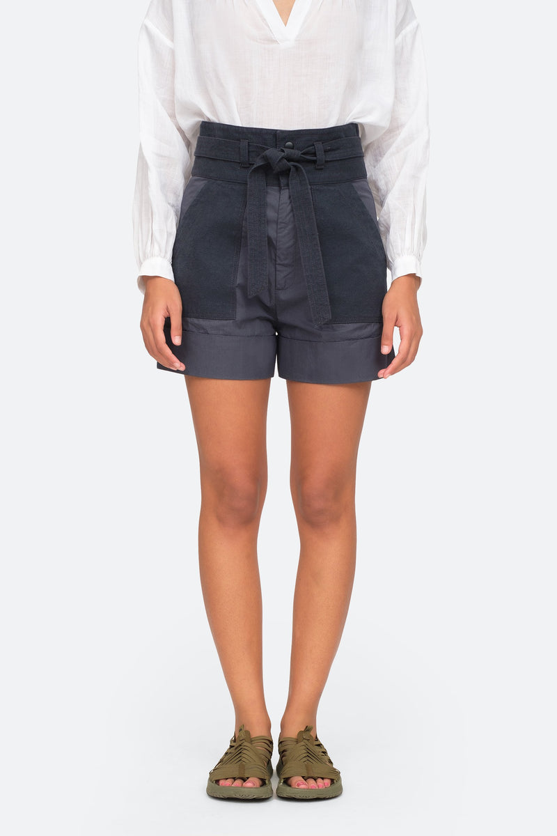Charcoal - Gabriette Shorts Front View 5