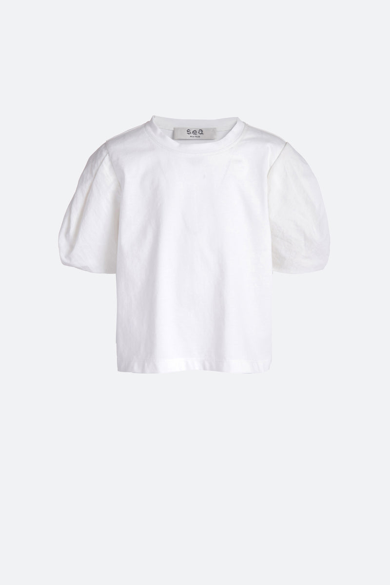 White-Nadja Kids T-Shirt-Flat View 1