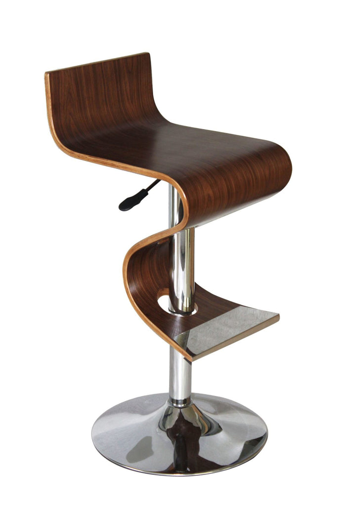 Fantastic Bromi Design Bf2620Wc King Walnut Adjustable Height White Bar Stool Caraccident5 Cool Chair Designs And Ideas Caraccident5Info