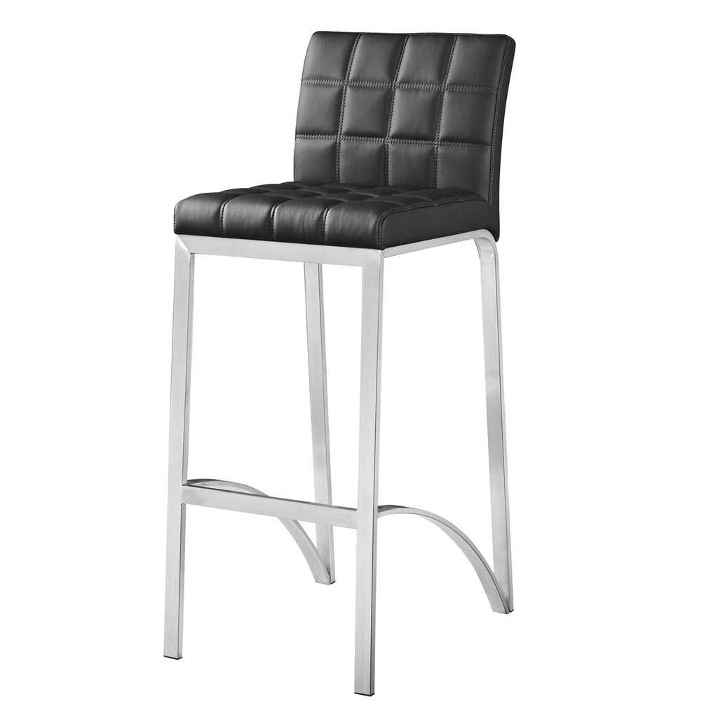 Pleasing Bromi Design Bf3210Bl Lincoln Black Bar Stool Caraccident5 Cool Chair Designs And Ideas Caraccident5Info