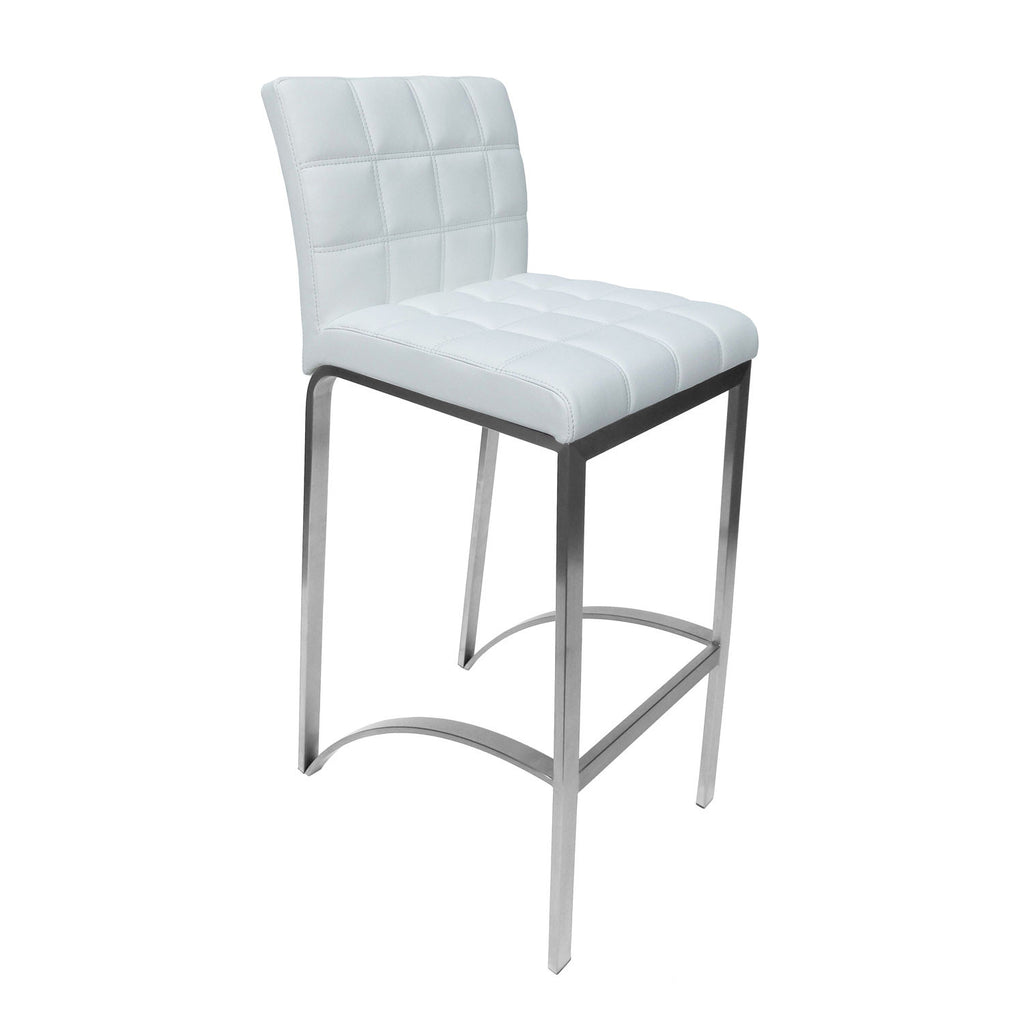 Astonishing Bromi Design Bf3210Wh Lincoln White Bar Stool Caraccident5 Cool Chair Designs And Ideas Caraccident5Info