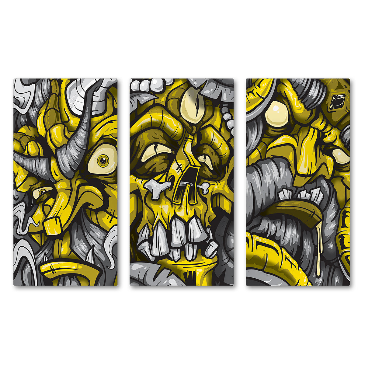 Lost Art Canada - yellow god series canvas print front view