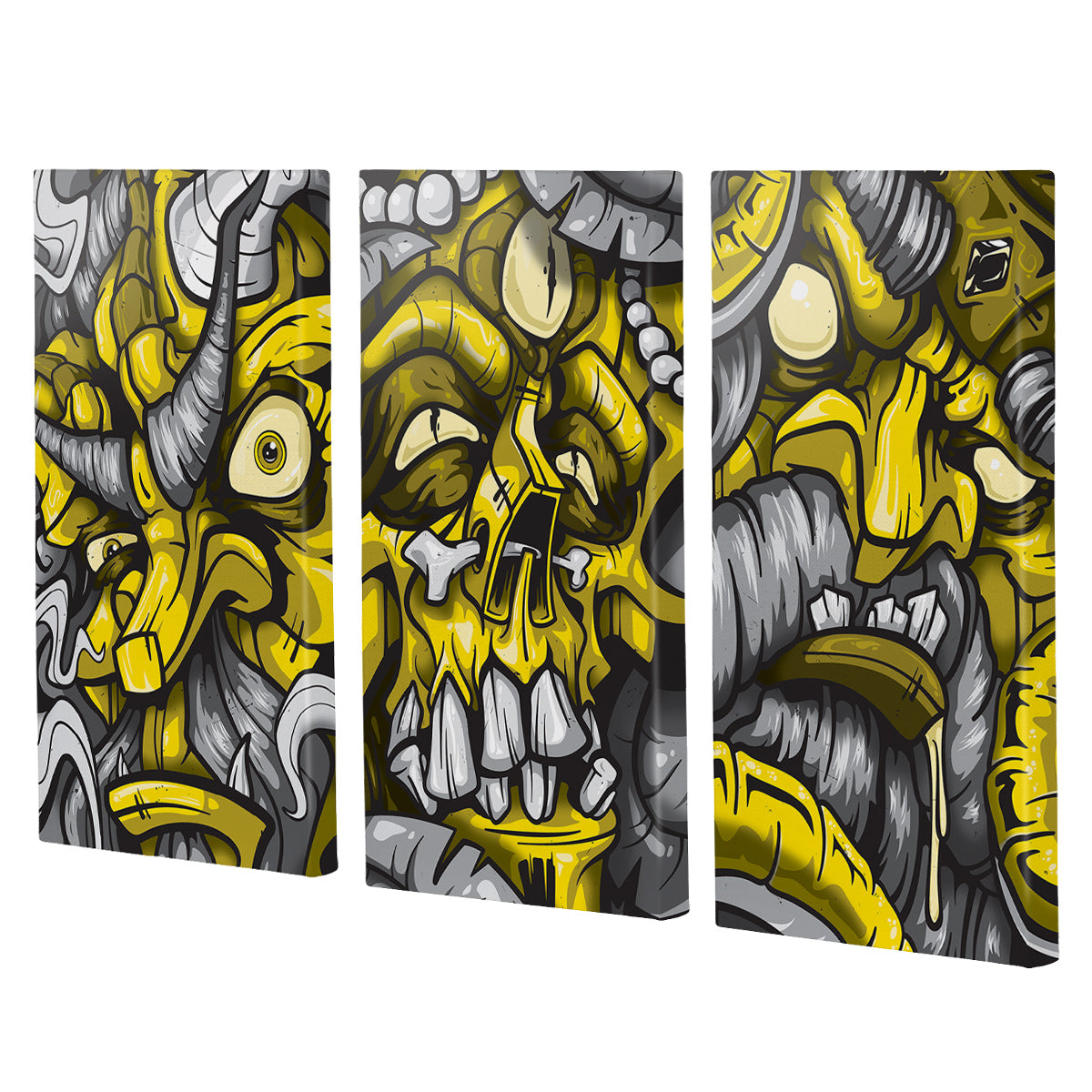 Lost Art Canada - yellow god series canvas print angle view