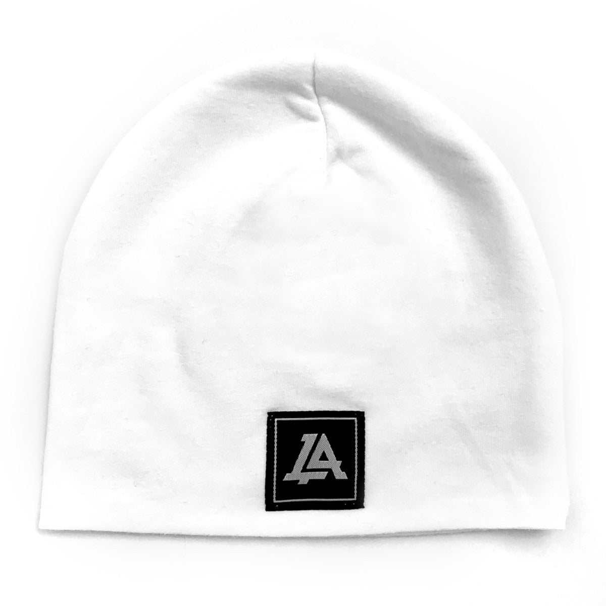 Lost Art Canada - white baby winter toque front view