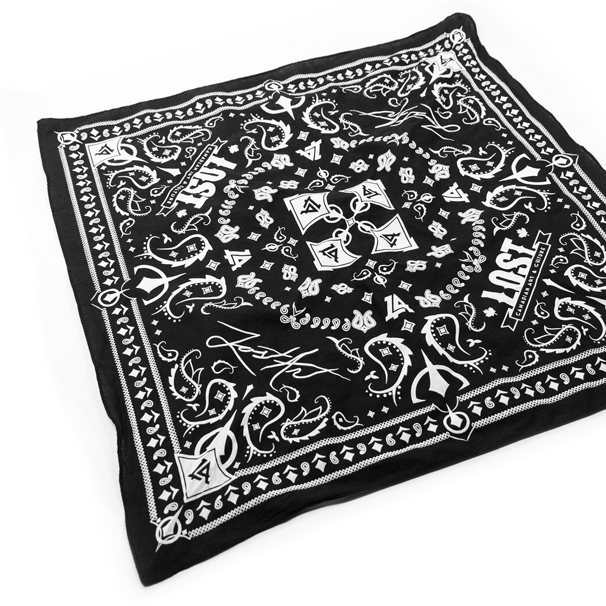 Lost Art Canada - custom black bandana