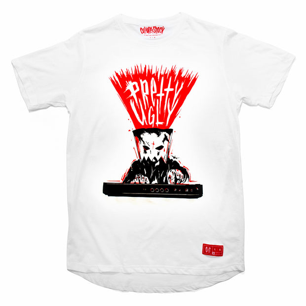 Culture Shock Canada - white Pretty.Ugly maschine beat tee front view