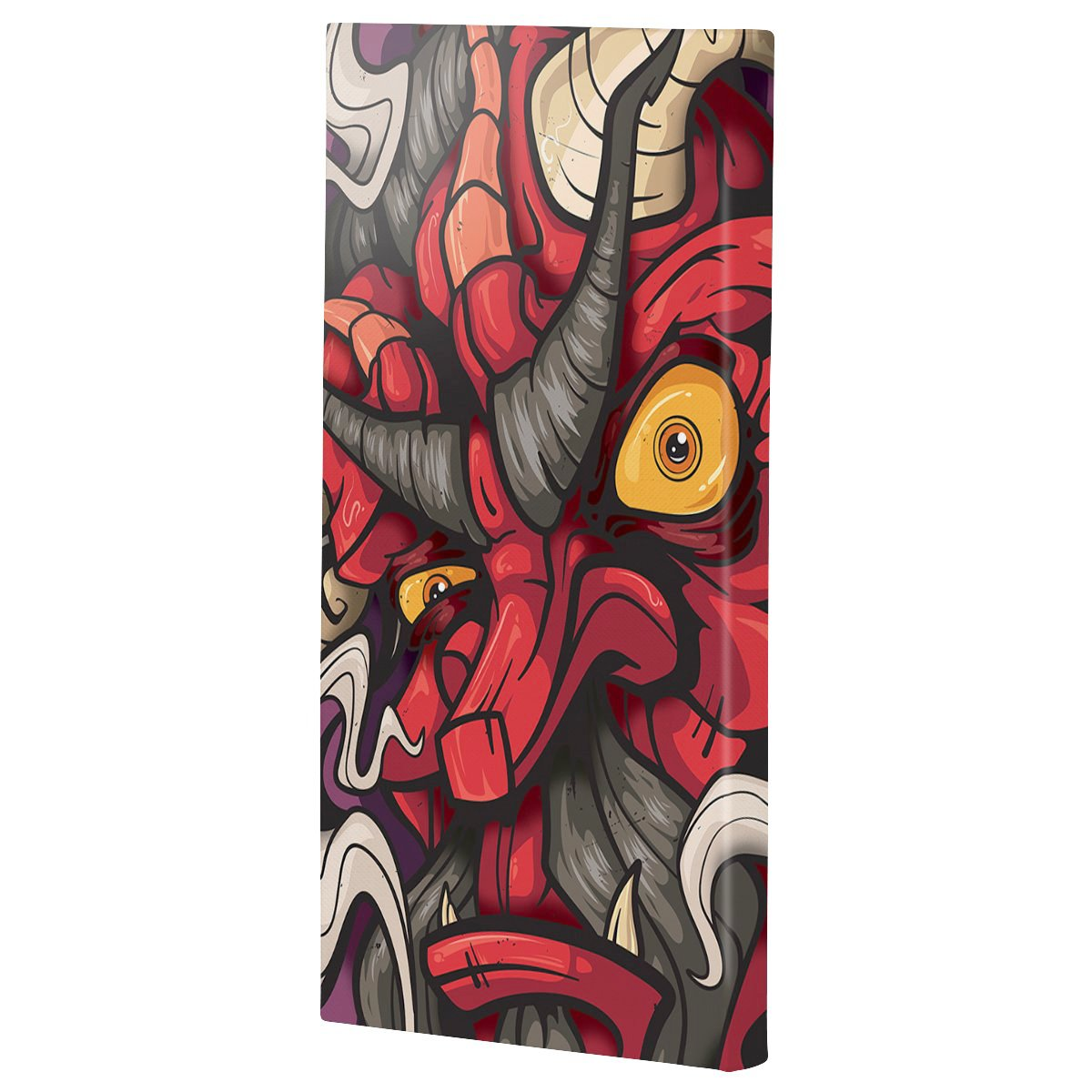 Lost Art Canada - red fire god canvas print angle view