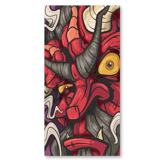 Lost Art Canada - red fire god canvas print front view