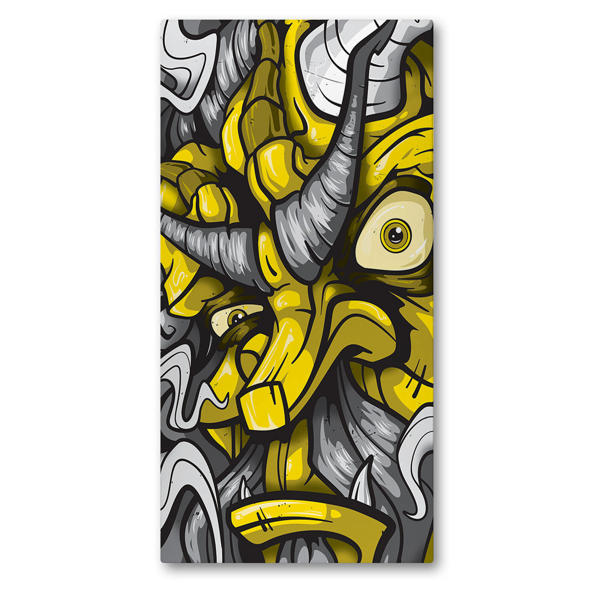 Lost Art Canada - yellow fire god canvas print front view