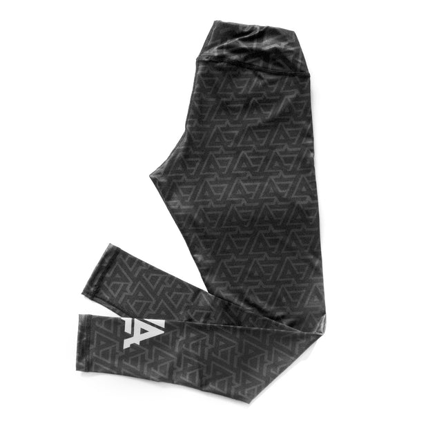 Lost Art Canada - black and grey leggings LA design side view