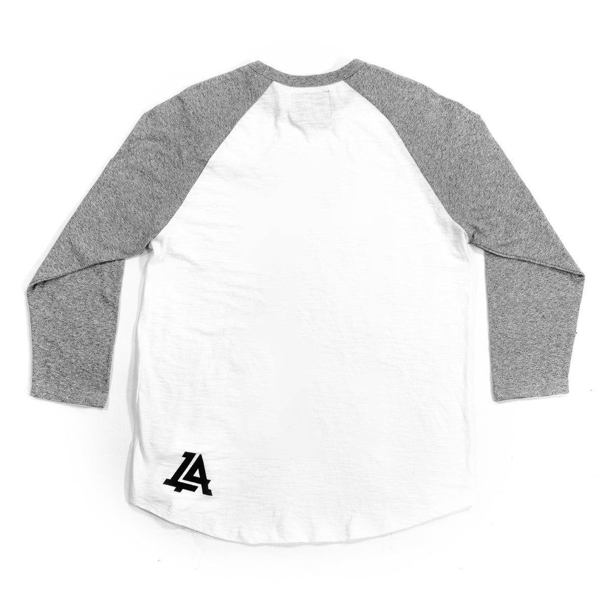 Lost Art Canada - white and grey blessed virgin mary baseball tee back view